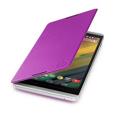 Hp tablet case: Slate 6 VoiceTab Purple Flip Cover - Paars