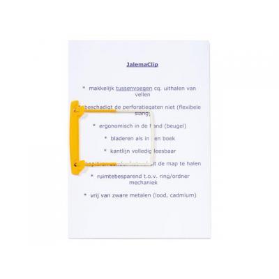 Jalema kantoorartikelen: SlangetjeClip geel/pk 100
