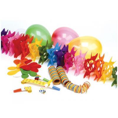 Papstar mail accessoire: Party set (feestversiering in 1 pakket)