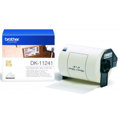 Brother etiket: DK-11241 Groot logistiek verzendlabel, wit