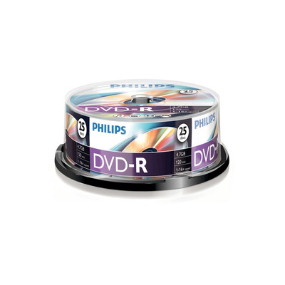 Philips 25 x-R, 4.7GB/120min, 16x DVD