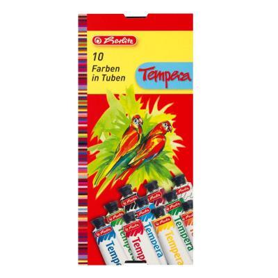 Herlitz verf: tempera paint 10 tubes - Rood