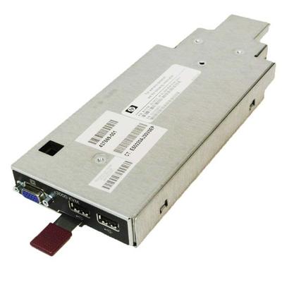 Hewlett Packard Enterprise BLc3000 KVM Option KVM switch - Zwart, Metallic