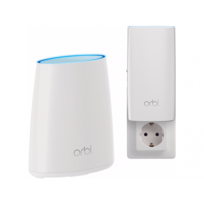 Netgear Orbi RBK30 Tri-Band AC2200 Mesh Wall Plug Starter Kit (2-Pack) wireless router - Wit