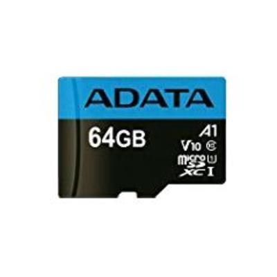 Adata flashgeheugen: 64GB, microSDHC, Class 10 - Zwart, Blauw