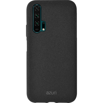 Azuri Flexible cover with sand texture - zwart - voor Huawei Honor 20 Pro Mobile phone case