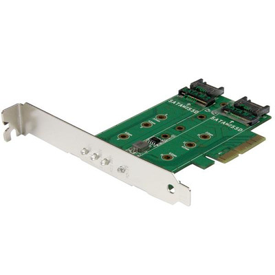 StarTech.com 3-poorts M.2 SSD (NGFF) adapter kaart- 1 x PCIe (NVMe) M.2, 2 x SATA III M.2 PCIe 3.0 PCI .....