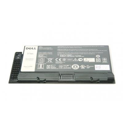 Dell batterij: 97Wh, 9-cell, Li-Ion, 11.1V, 8550mAh, Precision M4800/M6800 - Zwart