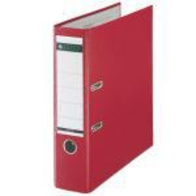 Leitz map: Plastic Lever Arch File A4 80mm 180° Red - Rood