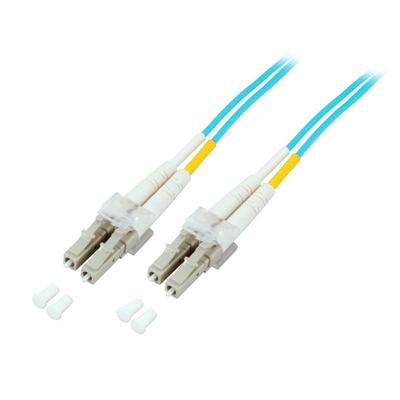 EFB Elektronik Duplex Jumper LC-LC 50/125µ, OM3 Fiber optic kabel - Aqua-kleur