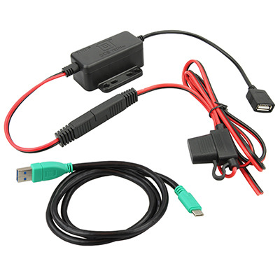 RAM Mounts GDS Modular Hardwire Charger with Type C Cable Oplader - Zwart,Groen,Rood