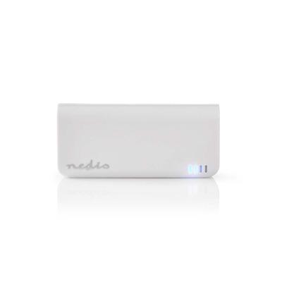 Nedis Power Bank, 4000 mAh, 1-USB-A output 1.0A, Micro USB input, White Powerbank - Wit