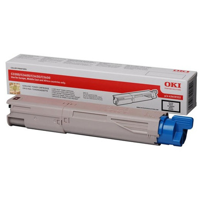 OKI cartridge: Black Toner Cartridge 2500p. for C3300n/C3400n/C3450/C3600 - Zwart