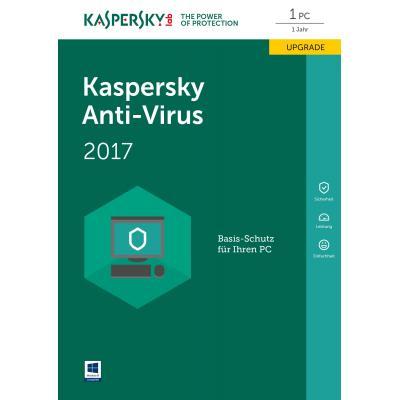 Kaspersky lab software: Anti-Virus DACH Edition 1-Desktop 1 year Renewal Box