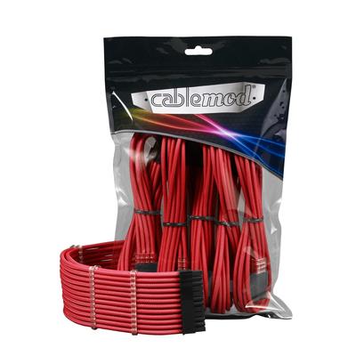 Cablemod ModMesh - Zwart,Rood