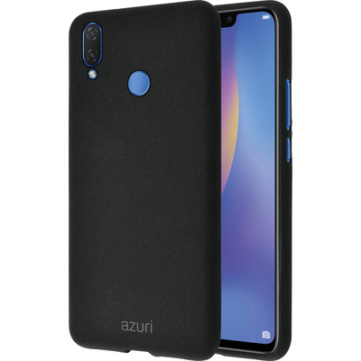 Azuri Flexible cover met zandtextuur - zwart - voor Huawei P Smart Plus 2018 Mobile phone case
