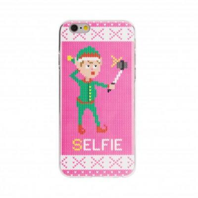 FLAVR Ugly Christmas Sweater Selfie Elfie Mobile phone case - Groen, Roze, Wit