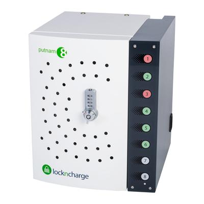 Lockncharge Putnam 8 Portable device management carts & cabinet - Zwart,Wit
