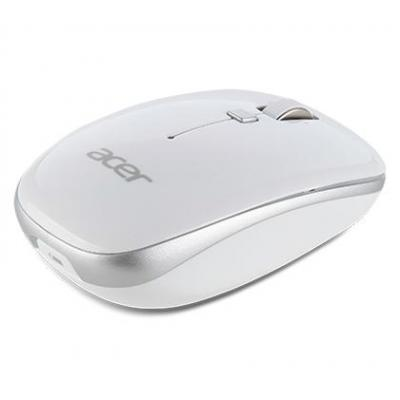Acer computermuis: USB, 1000 dpi, Optical - Zilver, Wit