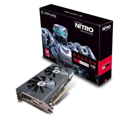 Sapphire videokaart: NITRO Radeon RX 480 8G D5 OC - Zwart