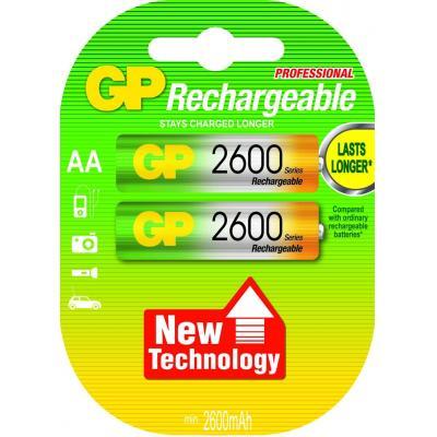 Gp batteries batterij: NiMH rechargeable batteries AA - Veelkleurig