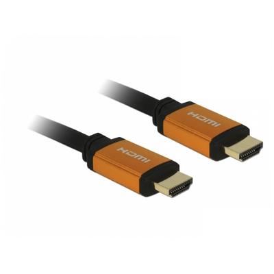 DeLOCK 85728 HDMI kabel - Zwart, Goud