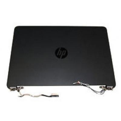 Hp notebook reserve-onderdeel: LCD Back Cover, Black - Zwart