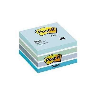 Post-It Pastelkubussen 76 x 76 mm, pastelblauw (blok 1 stuks) zelfklevend notitiepapier - Multi kleuren