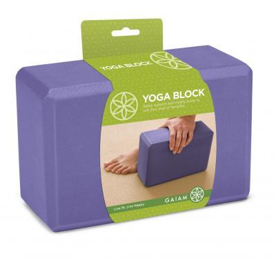 Gaiam fitness, gymnastiek & gewichtstraining: Yogablok - Paars