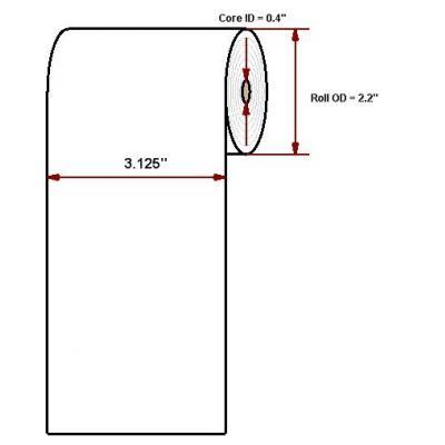 "Datamax o'neil thermal papier: Premium 3.125"" X 120'"