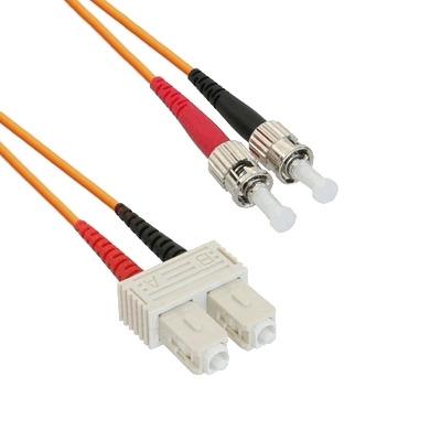 EECONN Glasvezel Patchkabel, 50/125 (OM2), SC - ST, Duplex, 0.5m Fiber optic kabel - Oranje