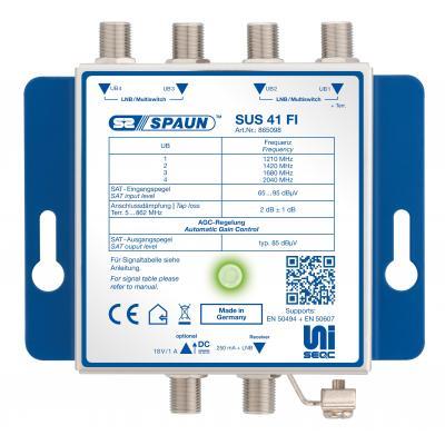 Spaun SUS 41 FI Kabel splitter of combiner - Blauw
