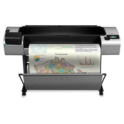 Hp grootformaat printer: Designjet T1300 44-in PostScript ePrinter - Cyaan, Grijs, Magenta, Matzwart Pigment, Geel