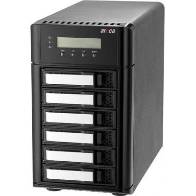 Areca Desktop 6-Bay, 6 x 12Gb/s SAS, 2GB DDR30-1866MHz, Thunderbolt 3 x2 / Display Port x1, 146 x 255 x 290mm, 6kg .....