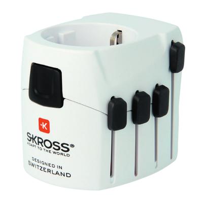 Skross PRO Stekker-adapter - Zwart, Wit