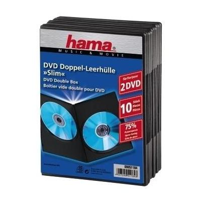 Hama DVD Slim Double-Box 10, Black - Zwart