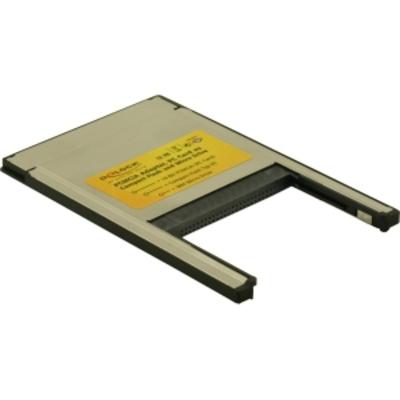 DeLOCK PCMCIA Card Reader 2 in 1 Compact Flash I/II - IBM Microdrive Typ II PC Card Geheugenkaartlezer