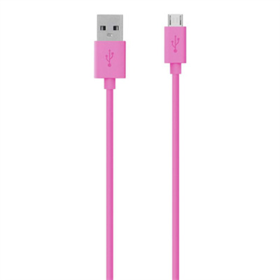 Belkin Micro-USB - USB ChargeSync Cable, Pink USB kabel - Roze