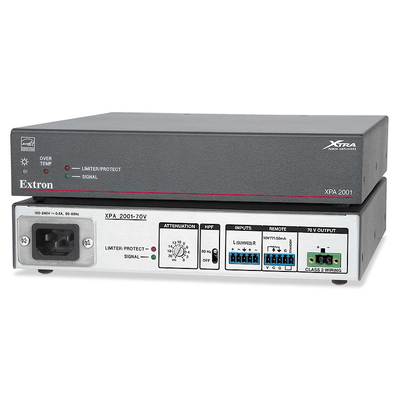 Extron XPA 2001-70V Audio versterker - Grijs, Wit