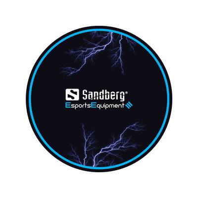 Sandberg Gaming Chair Floor Mat Bureaulegger - Zwart, Blauw