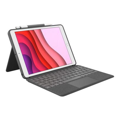 Logitech Combo Touch - QWERTZ Mobile device keyboard - Grafiet