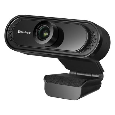 Sandberg USB 1080P Saver Webcam - Zwart