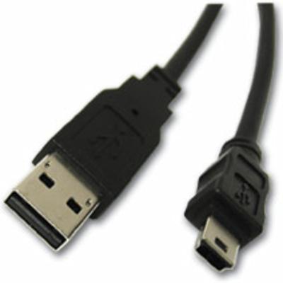 Intermec USB-A to USB-Mini B Plug, 2m USB kabel - Zwart