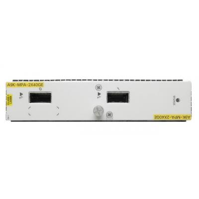 Cisco netwerk switch module: ASR 9000 2-port 40-Gigabit Ethernet Modular Port Adapter, requires QSFP optics