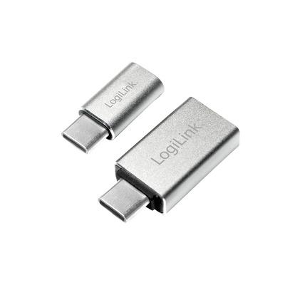 LogiLink USB-C 3.1 - USB 3.0 A/Micro USB 2.0, 5 Gbps, 10 g Kabel adapter - Aluminium