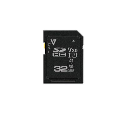V7 32GB SDHC Card UHS-3 V30 A1 Flashgeheugen - Zwart