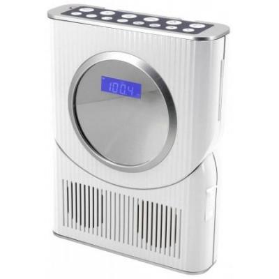 Soundmaster CD-radio: Waterplashproof bathroom CD Radio and LCD-display - Wit