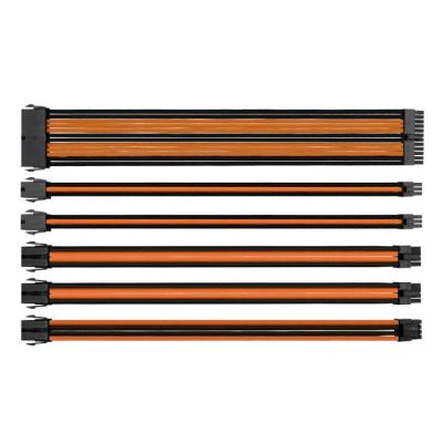 Thermaltake : TtMod Sleeve Cable - Zwart, Oranje