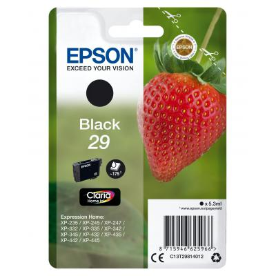 Epson inktcartridge: Singlepack Black 29 Claria Home Ink - Zwart
