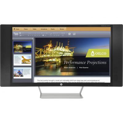 "Hp monitor: EliteDisplay S270c - 27"" Curved Full HD - Zwart"